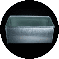 Galvanized containers